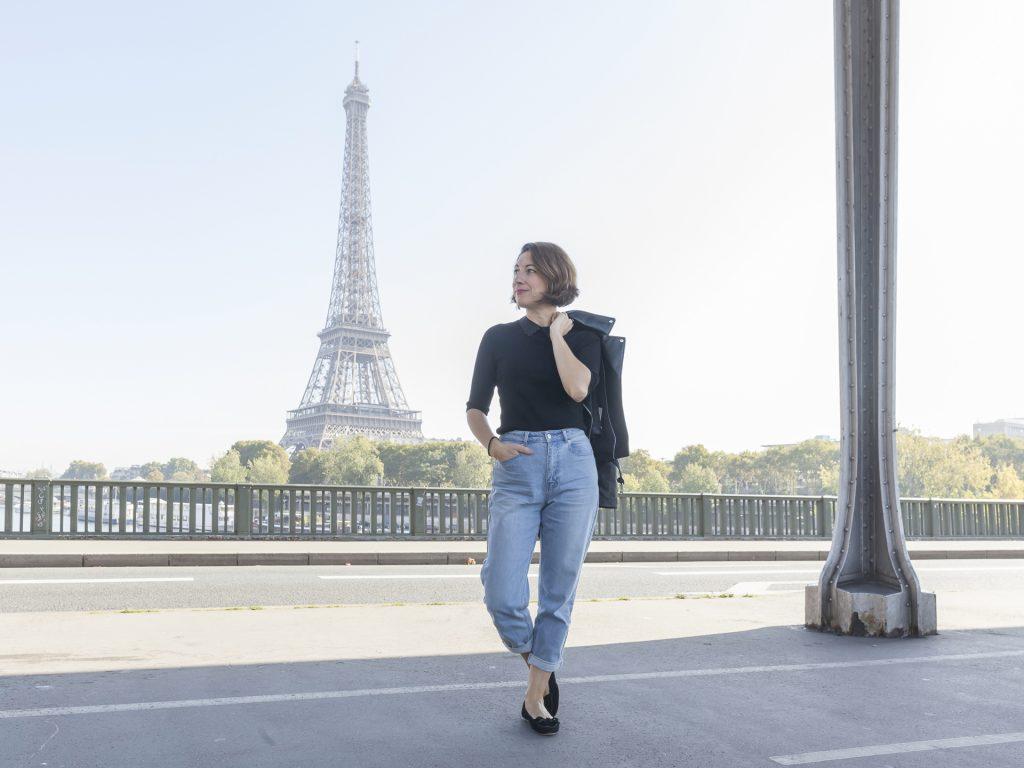 jean mom perfecto paris zara noir naf naf tout eiffel mode blog blogueuse