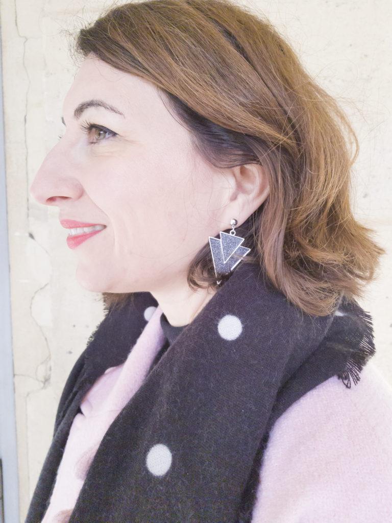 jupe glitter paillettes brillante manteau rose camaieu pimkie tote bag boots noires paris blog blogueuse mode paris boucles d'oreilles